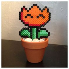 Mario Fire Flower Power Plant Pot Nintendo