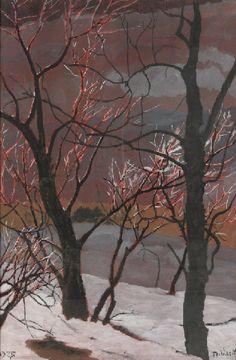 Leon Spilliaert (Belgian, 1881-1946)  Trees, 1927