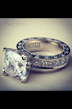 Wedding ring princess cut.