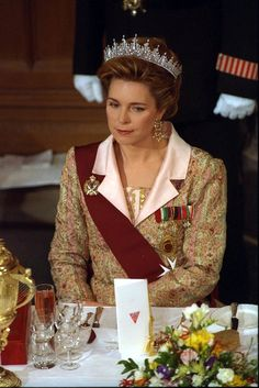 HM Queen Noor of Jordan. After her husband's death in 1999, King Hussein's eldest son became King Abdullah II of Jordan. His wife, Rania, is styled as HM Rania, The Queen of Jordan.