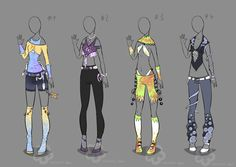 Some Outfits to adopt - sold by Nahemii-san.deviantart.com on @deviantART