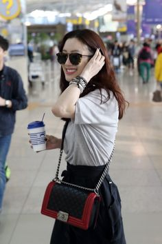 Jung Ryeo Won, Chanel Boy Bag, Actors & Actresses, Celebs, Shoulder Bag, Boys, Outfit Ideas, Outfits, Style