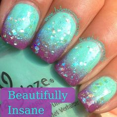 Mermaid Nails    I love stuff like that it is just so nice <3   I wish I can be a mermaid for atleast a day
