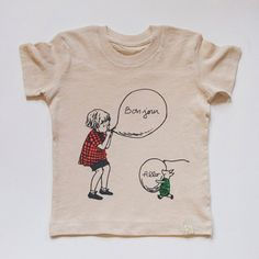 Chris + Piglet - Organic Tee  Description: 100% Organic Cotton  Hand silkscreened in Brooklyn, NY  Made in Peru    Collaboration with Walt Disney.  Based on the -Winnie the Pooh- works by A.A. Milne and E.H. Shepard.  Copyright-Disney  Available in: Natural   ...