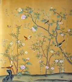 blumen und vogel kunst tapete chinoiserie pinterest v gel kunst tapeten und vogel. Black Bedroom Furniture Sets. Home Design Ideas
