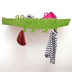 Regale - Wandregal zookids KROKO - ein Designerstück von julicadesign bei DaWanda