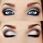Smokey Eye Makeup for Blue Eyes Steps