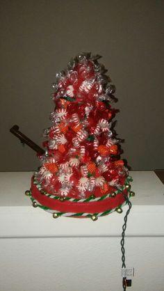 Large hard candy xmas tree