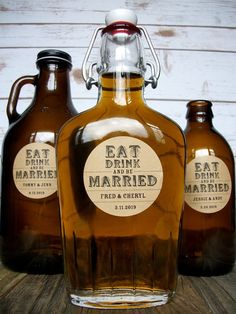 Custom Kraft Eat Drink & Be Married Wedding Labels Wedding Favor Labels, Custom Wedding Favours, Wedding Shower Favors, Party Favors, Personalized Wedding, Wedding Invitations, Wedding Table Centerpieces, Wedding Reception Decorations, Wedding Receptions