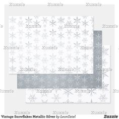 Shop Vintage Snowflakes Metallic Silver Foil Wrapping Paper Sheets created by LeonOziel. Out Of The Closet, Creative Gifts, Vintage Shops, Snowflakes, Party Favors, Christmas Holidays, Craft Projects, Wraps, Metallic