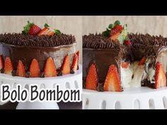 Receita de Bolo Bombom com Morango e Leite ninho - Receitas e Temperos