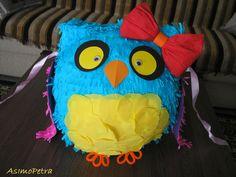 Our homemade owl pinata. Owl, Crafts For Kids, Homemade, Birthday, Party, Crafts For Children, Birthdays, Owls, Hand Made