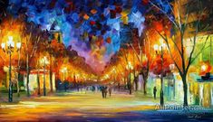 Leonid Afremov Holiday Aura oil painting reproductions for sale
