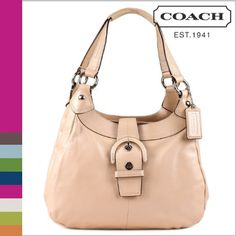 Coach Soho Shell Pink Leather Soho Hobo Handbag « Clothing Impulse