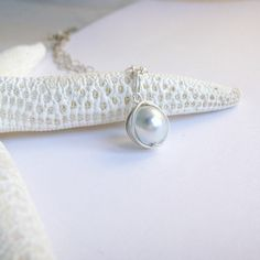 Silver Glass Pearl Necklace