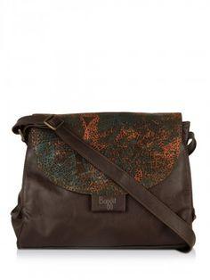 Baggit Leaf Print Shoulder Bag in india from koovs.com