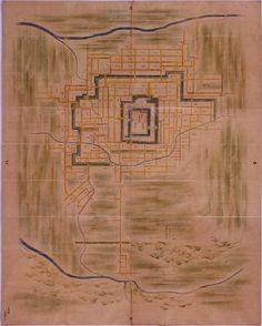 出羽国米沢城絵図 A map of Yonezawa-jo castle #Japanese castle