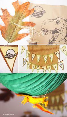 Fez 5 anos e comemorou com uma festa cheia de dinossauros. Laranja, verde e castanho foram as cores escolhidas numa mesa cheia de dino porme...