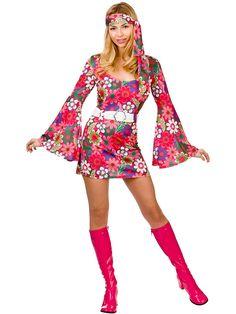 301c4d0c43c5 Details about Ladies 60s 70s Retro Go Go Girl Hippy Hippie Mini Fancy Dress  Costume S M L XL