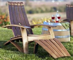 Take A Load Off With These Gorgeous Outdoor Seating Ideas http://www.rodalesorganiclife.com/garden/take-a-load-off-with-these-gorgeous-outdoor-seating-ideas/wine-barrel-adirondack-chair