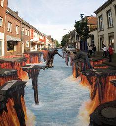 Unbelievable 3d Street Painting