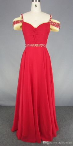 Romantic long prom dress, great styles and selections! Check out http://www.dhgate.com/product/red-romantic-a-line-straps-beading-long-prom/396708259.html