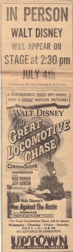 Vintage Disney , The Great Locomotive Chase