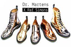 "Dr. Martens x Raf Simons Fall/Winter ""Metallic"" Pack"
