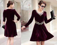Abiye kadife elbise modelleri - 0