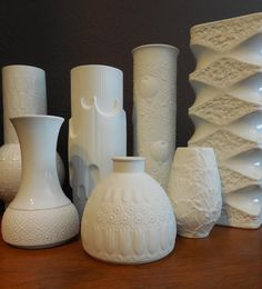 Mid Century Matte White Porcelain Vase designed by Nanny Still for Heinrich  from MidCenturyFLA