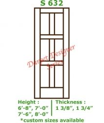 5 Panel Flat Door Conmore from CraftMaster Darpet Interior Doors