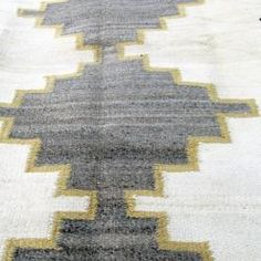 1930's Navajo weaving-perfect gray, cream and yellow/gold tones for my bedroom.