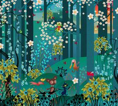 by illustrator Charlotte Gastaut ❤❦♪♫ Art And Illustration, Art Fantaisiste, Drawn Art, Inspiration Art, Motif Floral, Naive Art, Art Design, Whimsical Art, Oeuvre D'art