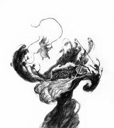 A LUNAR ART ADVENTURE: Sketch Tuesday 11.5.2013