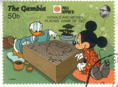 Mickey and Donald playing go