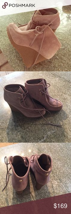 Michael Kors leather bootie Size 8 Michael kors leather booties. Worn once in the house and are in mint condition! These booties are AWESOME!! just trying to clear out some extra stuff in my closet. Reasonable offers considered  Michael Kors Shoes Ankle Boots & Booties