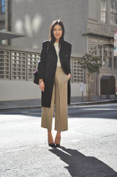 Love the trousers...very similar to the ODR wide-legged cropped trousers