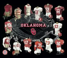 University of Oklahoma Sooners Football Uniform and Team History Ok Sooners, Oklahoma Sooners Football, Ou Football, Football Uniforms, Football Jerseys, Football Season, Basketball History, Basketball Funny, Basketball Sneakers