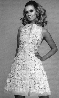 1960's. Floral dress