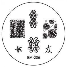 Series 2 Nail Stamping Plate BM206 - Beautiful Ornate Shapes
