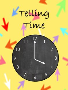 Math Worksheet to practice telling time. www.teacherspayteachers.com/store/Learning-As-We-Grow