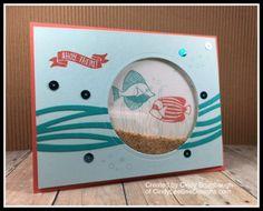 SU Seaside Shore Shaker Card by Cindy Brumbaugh of CindyLeeBeeDesigns.com