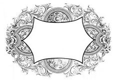 Vintage Graphics - Gorgeous Scrolly Frames - The Graphics Fairy