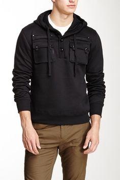 American Stitch Fleece Pullover Pocket Hoodie