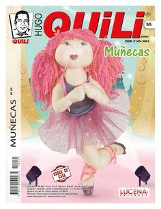#Revista #Quili #Muñecas Nº 55  www.minauri.com Pretty Girls, Make It Simple, Anime, Handmade, Pretty Ballerinas, Fabric Dolls, Craft, Log Projects, Crafts For Kids