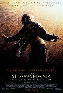 "The Shawshank Redemption Directed by Frank Darabont. Based on the short story ""Rita Hayworth and Shawshank Redemption"" by Stephen King. Starring Tim Robbins, Morgan Freemon, and Bob Gunton. Poster Print, Poster Design, Poster S, Rita Hayworth, See Movie, Movie Tv, Movie List, Movie Titles, Es Stephen King"