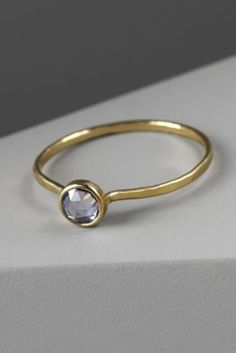 BHLDN sky sapphire ring