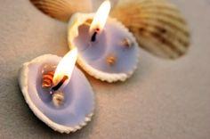 #DIY Seashell Candles.