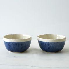 Blue Porcelain Soup Bowl
