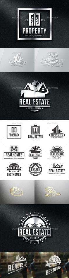 Property Real Estate Badges & Logos Template Vector EPS, AI Illustrator, Affinity Designer